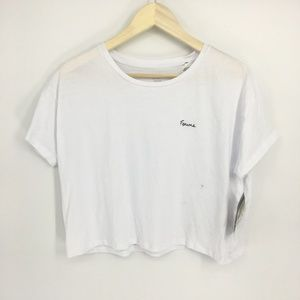 French Connection White Short Sleeve Top